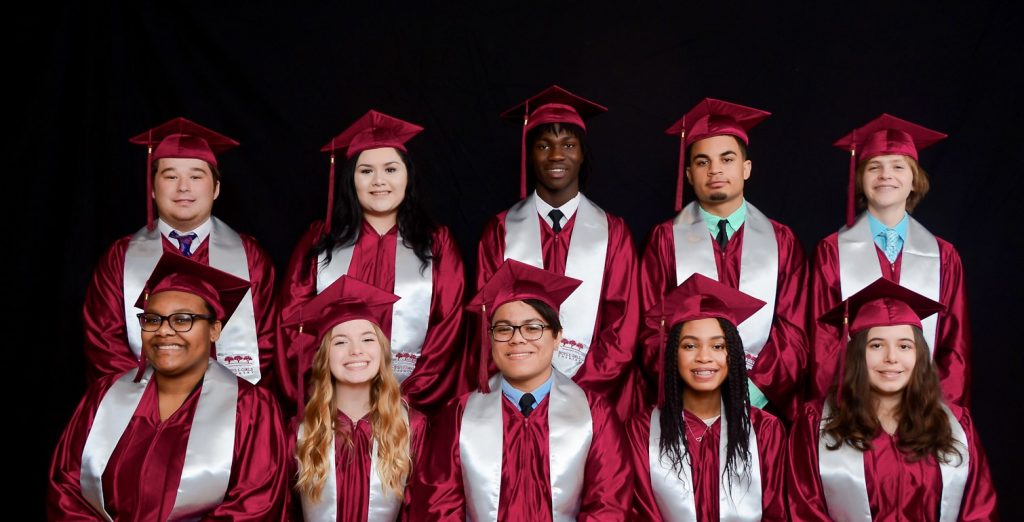 cap and gown photo class of 2020