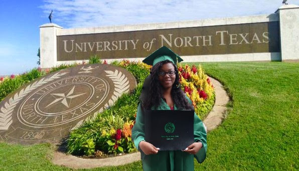 UNT Denisha with Diploma